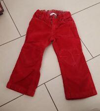 lange Hose von H& M rot Cord used look  für Mädchen Gr 98