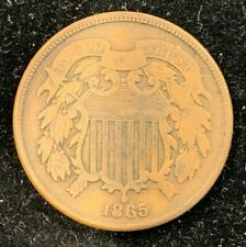 1865 P US 2 Cent Coin (C#2852)