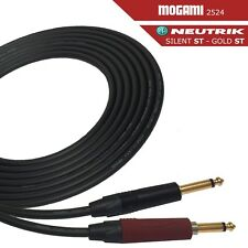 Mogami 2524 Guitar Cable - Neutrik Silent ST to Gold ST with Choice Of Length
