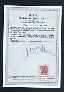 D. Reich 92I ** postfrisch mit Attest  C183