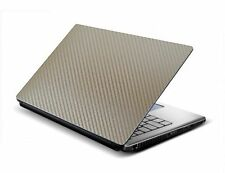 Tufkote Laptop Skin Decal GOLDEN - 3D Carbon Design - Free Size fits all
