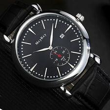 Luxury Men's Date Wrist Watch Stainless Steel Leather Analog Quartz Sport Watch