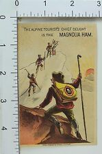 Victorian Trade Card Magnolia Ham Alpine Mountain Climbers Snow Sun F66