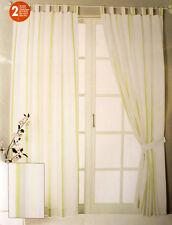 Schlaufenschal Scxhlaufengardine Gardine Vorhang 2er Set 140 x 245 cm weiss
