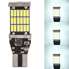 2pcs T15 912 921 W16W 45 SMD 4014 Error Free LED Reverse Back Light Bulbs 12V DC