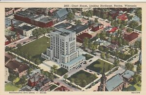 (S)  Racine, WI - Bird's Eye View of the Court House - Looking Northeast