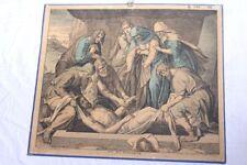 Lehrtafel Schulwandkarte ~1880 Stahlstich Die Grablegung original antik