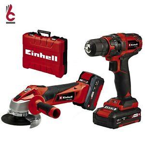 Trapano avvitatore a batteria e con smerigliatrice flex kit Einhell 18V 4257238