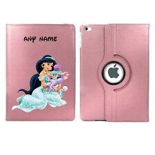 Jasmine & Cute Elephant Personalised iPad 360 Rotating Case Cover Birthday Gift