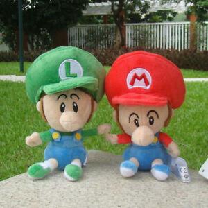 2X Super Mario Bros Run Baby Mario And Baby Luigi Plush Toy Lovely Soft Doll So