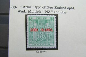 XL5133: Cook Islands (1953):  Mint £3 'Arms Type' Stamp – SG135w