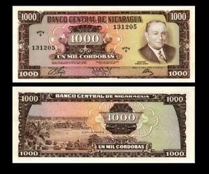 NICARAGUA 1000 CORDOBAS 1972 YEAR P 128 UNC