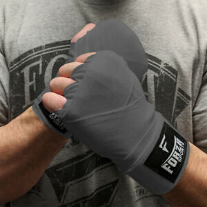 """Forza Sports 120"""" Mexican Style Boxing and MMA Handwraps - Gray"""
