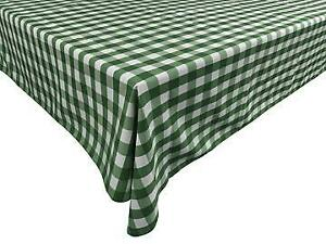 Poplin Gingham Checked Plaid Tablecloth for Picnic/Party/Dinner Special Events