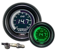 PROSPORT 52mm EVO Series Green White Led WIDEBAND Air Fuel Ratio Gauge