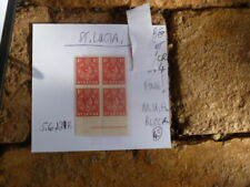 ST LUCIA 1D STAMPS MUH FINE  BLOCK OF 4 . SG 129B