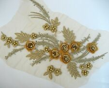 Big Gold 3D Lace Applique #55 Tutu Dance Costume Trim Aust Seller
