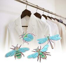 4 x Dragonfly/Beetle/Bee/Cicada Embroidery Sew Iron On Patch Fabric Applique DIY