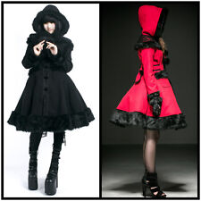 Punk-Rave LY-045 Gothic Lolita doll fur lace hooded winter coat