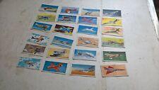 set 24 lyons tea cards wings of speed 1961