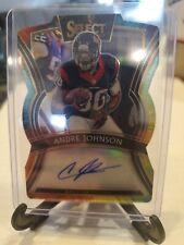 ⚪🔴2019 Andre Johnson Select Super RARE Autograph 1/2 Football Texans TRI COLOR