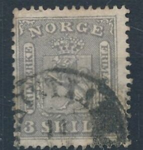 [52433] Norway 1863 Very good Used F/VF stamp $575