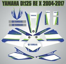 YAMAHA DTR 125RE Full Decals kit graphique DT125 X Laminated Stickers 2004-2017