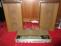 Rare ampli-tuner ITT Schaub-Lorenz 4000 et ses enceintes, HIFi Vintage, bel état