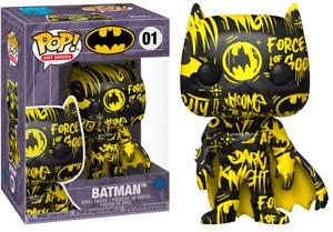 Funko Pop Heroes DC Batman Black & Yellow w/ Case Artist Series Exclusive 01 NEW