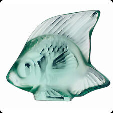LALIQUE CRYSTAL #3001900 FISH MINT GREEN  BRAND NIB FRENCH WATER SAVE$$ FREE SH
