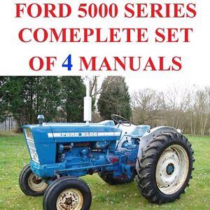 Ford 5000 Series Tractors SERVICE & PARTS Catalog OWNERS Manual Lot 4 MANUALS CD