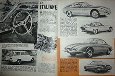 ARTICOLO ALFA ROMEO GTZ  ZAGATO  ASA 1000  GIULIA SW COLLI - MORETTI 2500 -1962