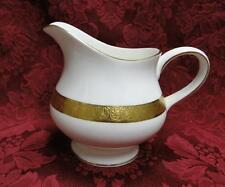 Wedgwood Adelphi, White w/ Gold Encrusted Verge: Creamer