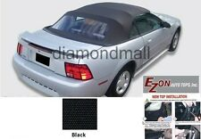 E-Z ON Ford mustang Convertible Soft Top & Plastic window Black Sailcloth 94-04