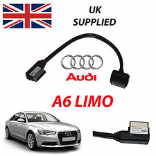 AUDI A6 LIMO 4F0051510R 2014 AMI For Apple iPhone iPod Audio Video Cable red