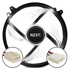 NZXT FZ-200 AIRFLOW WHITE LED FAN 20DBA SLEEVE BEARING With 3-PIN CONNECTOR