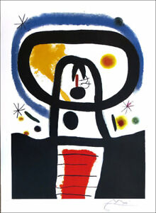 Joan Miro EQUINOX Facsimile Signed Offset Lithograph Print 36 x 24