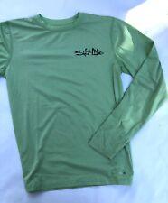 SALT LIFE Long Sleeve Green Shirt  Live Salty Size Medium M