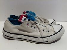Converse White Lace Up Double Tongue Mens 6 And Womens 8 Sneakers