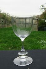 Glass Wine Red Crystal Of sèvres Model Novara Signed