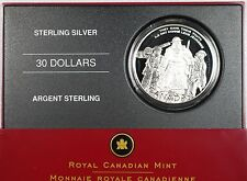 2006 $30 Sterling Silver Coin - National War Memorial - LOW MINTAGE!