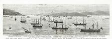 FLOTTA TURCA BAIA BUYUKDERE Saryer Turkish Navy Istanbul - Incisione 1800
