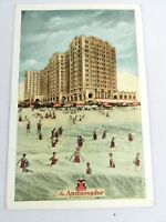 Vintage The Ambassador Atlantic City Postcard Lumitone Photoprint New York USA