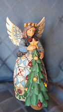 Jim Shore Heartwood Creek Enesco Angel Tree Figurine 2002 in box 8 inches tall