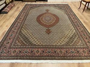 Perserteppich Orientteppich feiner Täbriz Korkwolle mit Seide 350 x 250 Teppich