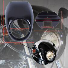 Nero Carenatura Cupolino Faro Anteriore Fairing Per Harley Sportster Dyna FX XL
