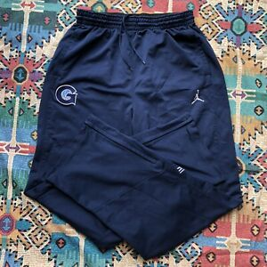 Air Jordan Sweat Track Pants Georgetown Hoyas Elite Basketball Men's XLT Blue