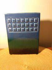 Royal Haeger Rectangular Vase Tile Pattern Blue &Green Fade MidCentury Modern