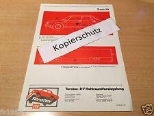 Saab 99 - Terotex Hohlraumversiegelungsplan