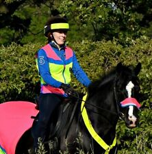 Equisafety Charlotte Dujardin Multi-colour Waiscoat Pink/Yellow